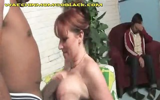 large titted mommy rides dark pecker