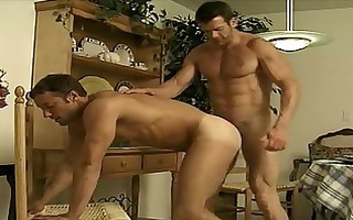 sexy homosexual chaps fuck after dinner