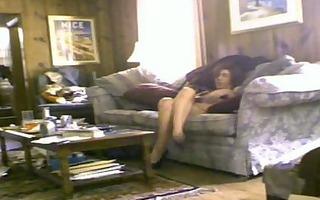 hidden web camera caught wife toying herself