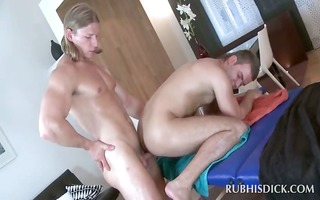 gay masseur acquires hardcore butt screwed