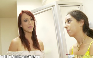 small trinity st-clair and mother sucks pecker