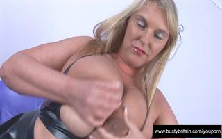 large breasts carol brown latex enjoyment