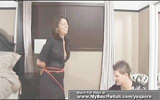 hot secretary receive bondage