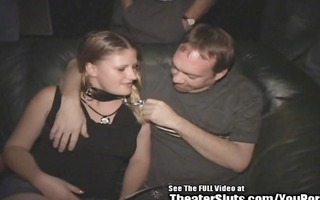 porn theater cum wench freak on a leash!