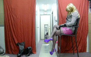 latex and heel masked tv