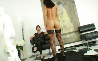 extraordinary lesbo hotties dildoing butt pussies