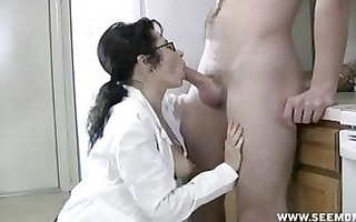 d like to fuck with glasses receives throat full