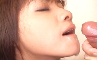 super hot oriental honey slurping cum off part11