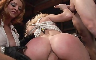 rope slavery with a group sex