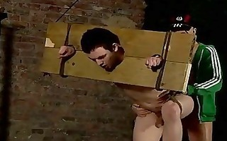 gay twinks this chap is in the stocks, but its