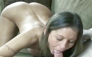 petite and breasty wife leeanna swallows a rod