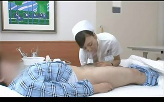 concupiscent japanese nurse riding a patient