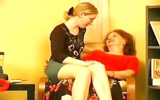 lascivious granny taking advantage of her