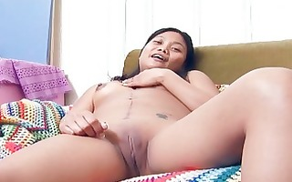 oriental shaven peach acquires soaked