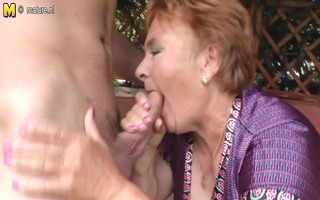 old granny fucks her toy man