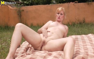 daughter drilled by aunties outdoor