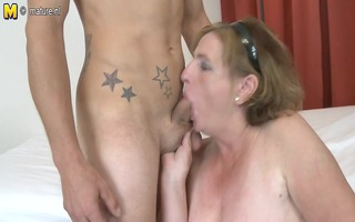 old granny fucking and sucking young schlong