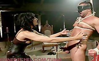 intensive knob castigation from a dominatrix