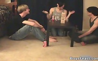 super sexy homosexual teenies having a game party