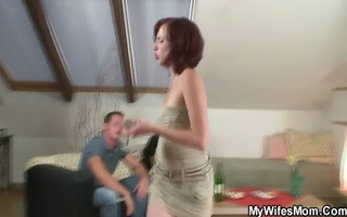 lustful granny lures her son-in-law