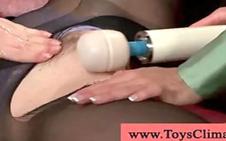 gingers pussy with a vigour massager