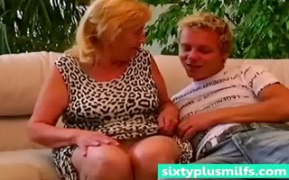 chubby granny seduces younger lad