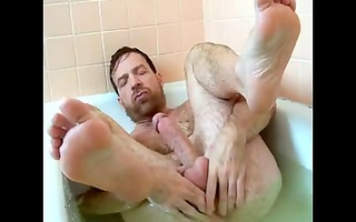 sexy dad in the bath