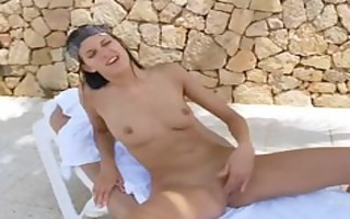 brunettes acquire jointly have a fun lesbo joy