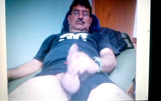 mexican dad showing his large schlong on cam