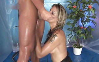 sexually excited doxy sucks threesome nice wang