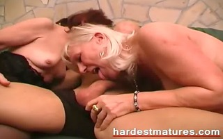 matures with a sexually excited younger stud