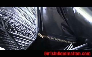 bizarre solo headmistress in latex