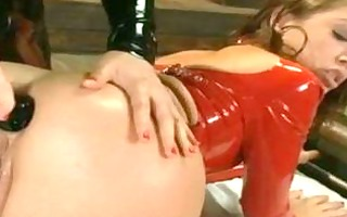 sexy anal doxies doing bizarre anal in latex!