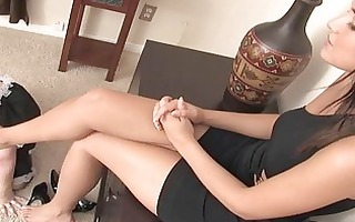 mistress has lesbo serf