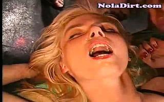 blond bukkake group sex cumsluts