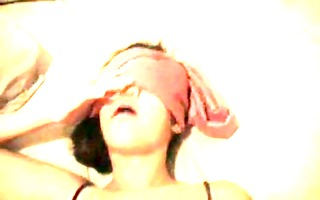 hvt blindfolded asian wife