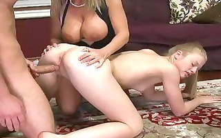 older stepmom receives with a legal age teenager