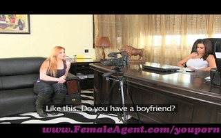 femaleagent. curvaceous redhead in st time anal