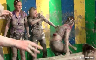 this allwam mud wrestling event begins out as