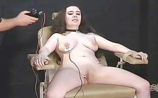 electro tortured big beautiful woman in harsh
