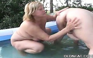 fat aged babes having lesbo sex