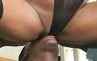 busty black hussy acquires team-fucked