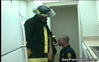 uniformed homosexual men have a lot of pleasure