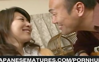 japanese wife sucks on a younger knob