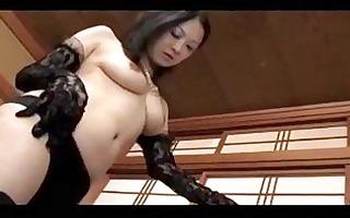 aged female-dominant in darksome underware