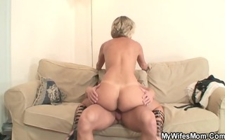 hot mother in law enjoys wang riding