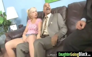 watchung my daughter getting drilled by dark dong