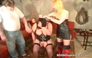 chunky aged slut loves sadomasochism games as she