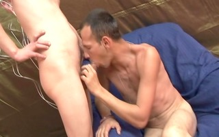 homosexual whiteboys anal creampie sex - alfa red
