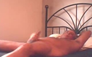 daddy beats off in daybed